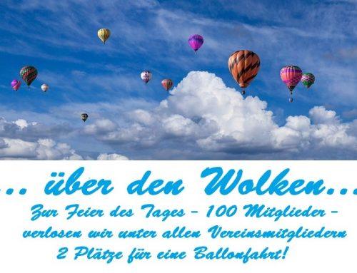 100 (+3) Vereinsmitglieder – Ballonfahrt!