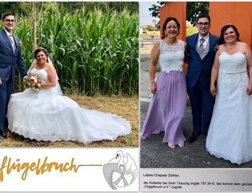 Hochzeitskollekte für Flügelbruch e.V. – Krebs ist kein Tabu! ♥