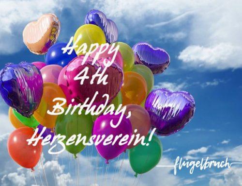 Alles Liebe zum 4. Geburtstag, Herzensverein!